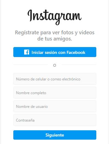 Login de Instagram y como crear una cuenta