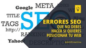 12+1 Errores SEO | ¿Por que tu Página Web no Posiciona?, Post SEO de Alternativa Creativa - Enlaces internos