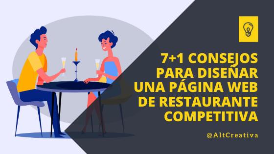 7+1 Consejos para diseñar una página Web de restaurante competitiva