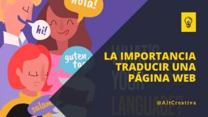 la importancia de traducir una página web