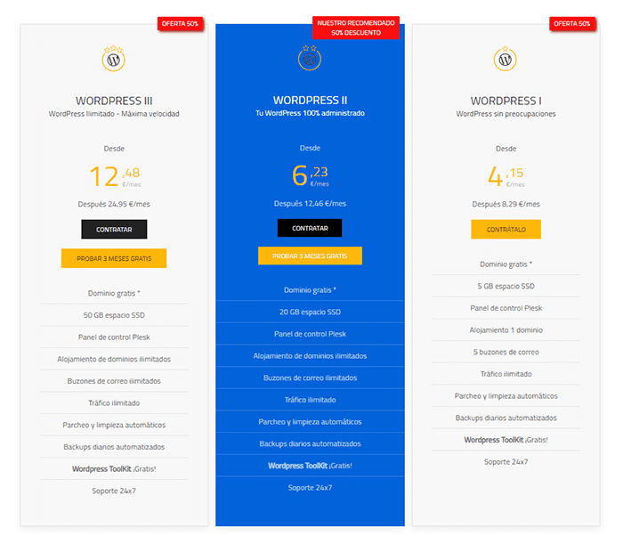 Planes Hosting WordPress barato Axarnet