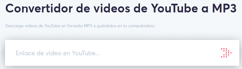Clickmp3 Convertidor de videos de YouTube a MP3